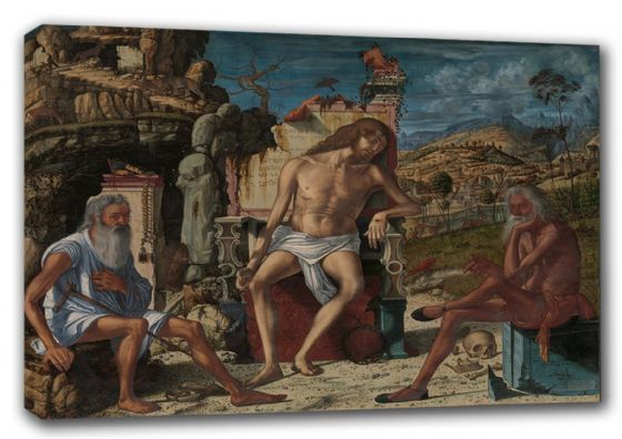 Carpaccio, Vittore: The Meditation on the Passion. Biblical/Religious Fine Art Canvas. Sizes: A3/A2/A1 (00225)